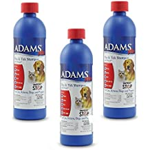 (3 Pack) Adams Plus Flea and Tick Shampoo with Precor for Dogs and Cats - 12-Ounce Bottles