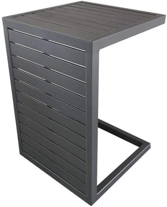 Proloisture Lou Side - Juego de 2 mesas Bajas (57 x 40 cm, Aluminio), Color Gris: Amazon.es: Jardín