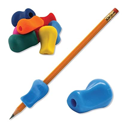 5 sujetadores de silicona para agarrar lápices para niños, ...