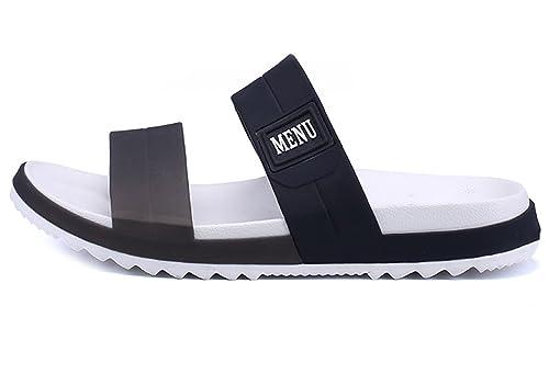 07094c2a894454 WangJiaoHou Mens Slip On Sandals Slippers Comfortable Shower Slides Beach  Pool Slip Open Toe Ring Sandals