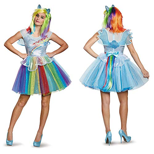 Disguise Women's My Little Pony Rainbow Dash Deluxe Costume, Multi, Medium