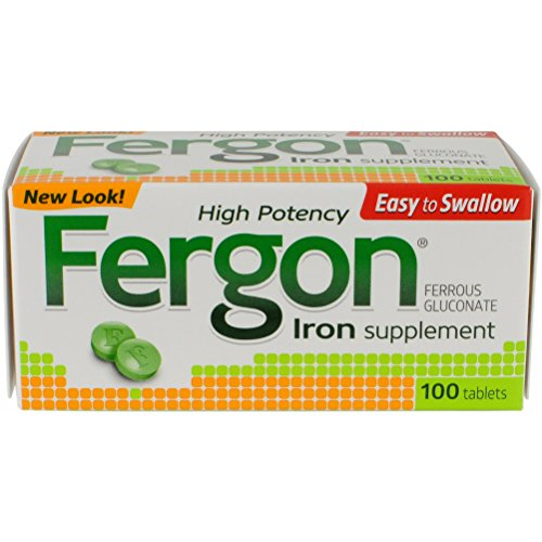 Fergon Iron Supplement, Tablets, 100 Count (Fergon Iron Supplement compare prices)