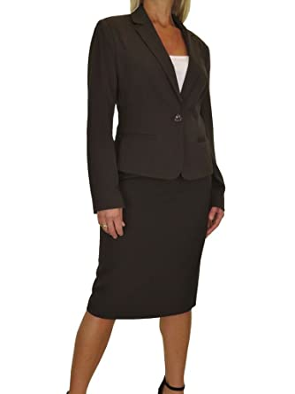 Amazon Com Ice Womens Fully Lined Skirt Suit Smart Business Office