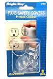 Chachlili 74 Retail Packages Of Bright-Way 8 Clear Plastic Plug Outlet Safety Covers