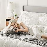 Bedsure Ivory California King Size Comforter Sets
