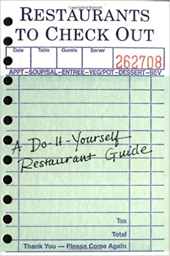 Restaurants to check out a do it yourself restaurant guide restaurants to check out a do it yourself restaurant guide imagineering company 9780811840941 amazon books solutioingenieria Choice Image