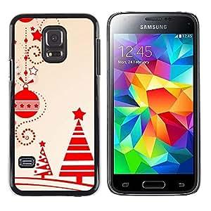 Be Good Phone Accessory // Dura Cáscara cubierta Protectora Caso Carcasa Funda de Protección para Samsung Galaxy S5 Mini, SM-G800, NOT S5 REGULAR! // Decorations Tree Red Winter