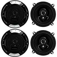 4) New Renegade RX52 5.25 320 Watt 2-Way Car Audio Coaxial Speakers Stereo
