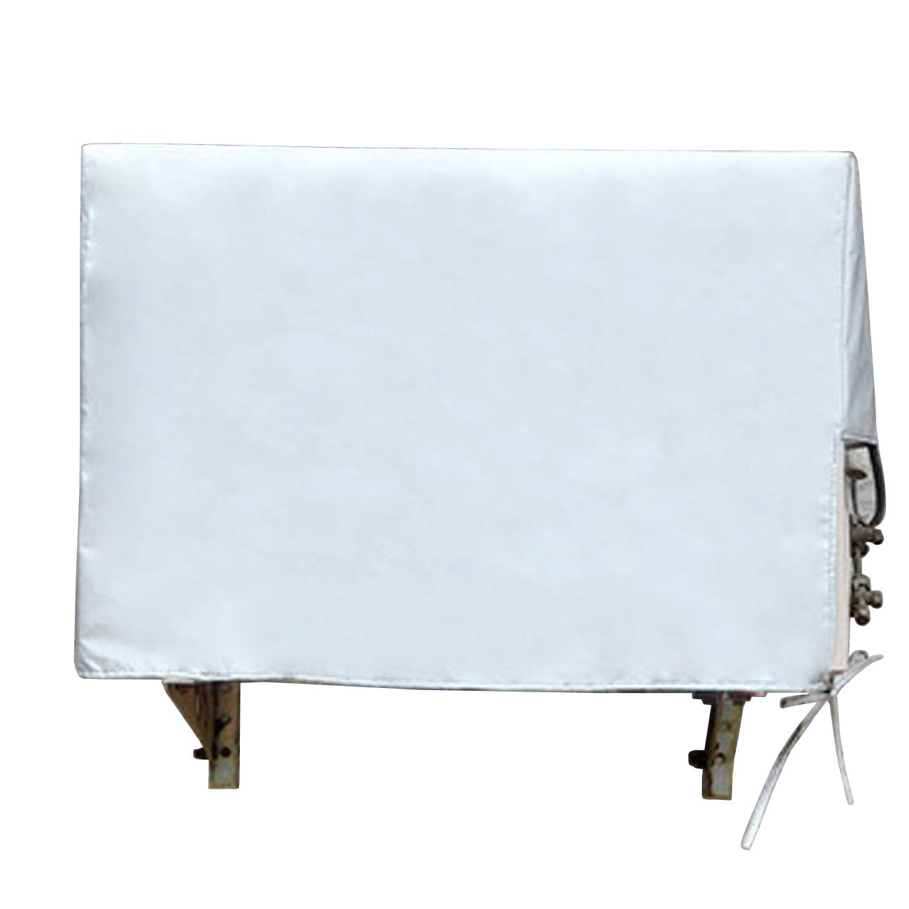 "Ogrmar Outside Window Air Conditioner Unit Cover Waterproof Sunscreen Silver Plating. (37"" x 16.1"" x 27.6"")"