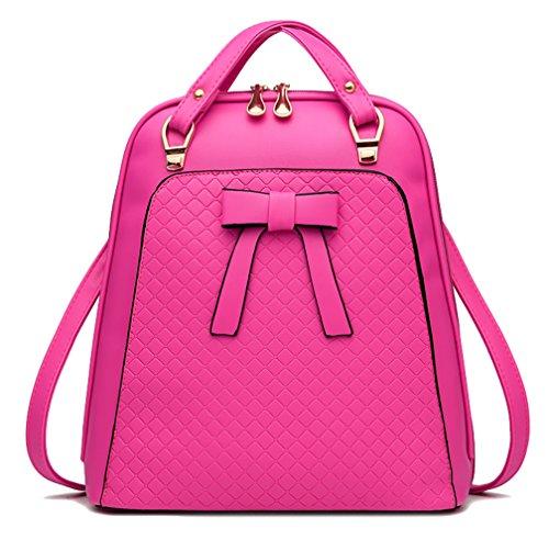 Respeedime - Bolso mochila para mujer Azul azul Medium rosa (b)