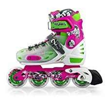 Miami Inline Skates for Boys and Girls 4 Size Adjustable, US 3-5