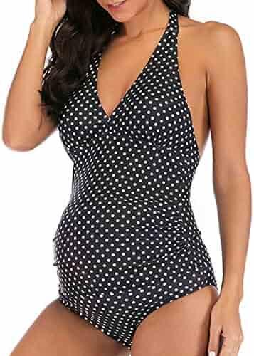 a567581aa6 EastElegant Maternity Tankini Set/Two Pieces Pregnancy Swimsuit/Women's  Plus Size Swimwear