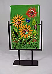 Fused Glass Art - Free Standing Floral - #FS36