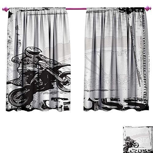 Anniutwo Motorcycle Waterproof Window Curtain Motocross Racer Image