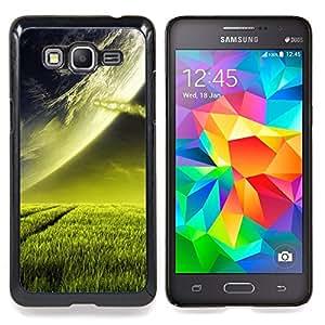 """Qstar Arte & diseño plástico duro Fundas Cover Cubre Hard Case Cover para Samsung Galaxy Grand Prime G530H / DS (Extranjero de espacio Planet Green Grass Arte Cosmos"""")"""