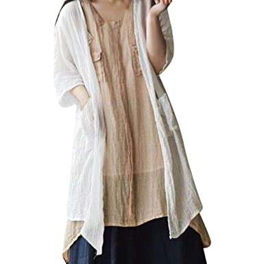 Jacke Femme Cardigan Basic Reaso Bohème Gilet Pullover Kimono Longue OkPZuXTi
