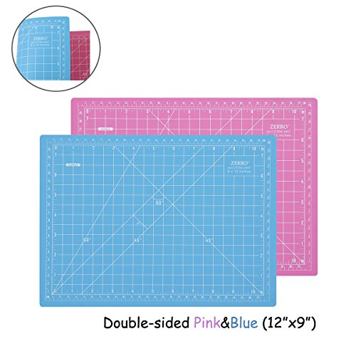 (ZERRO Self Healing Cutting Double-Sided Rotary Mat Non-Slip 5-Ply Thick 9