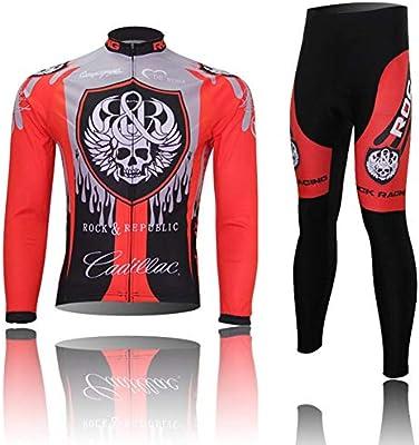 CYCPACK Primavera Jersey Ciclismo Hombre Set De Manga Larga - Red ...