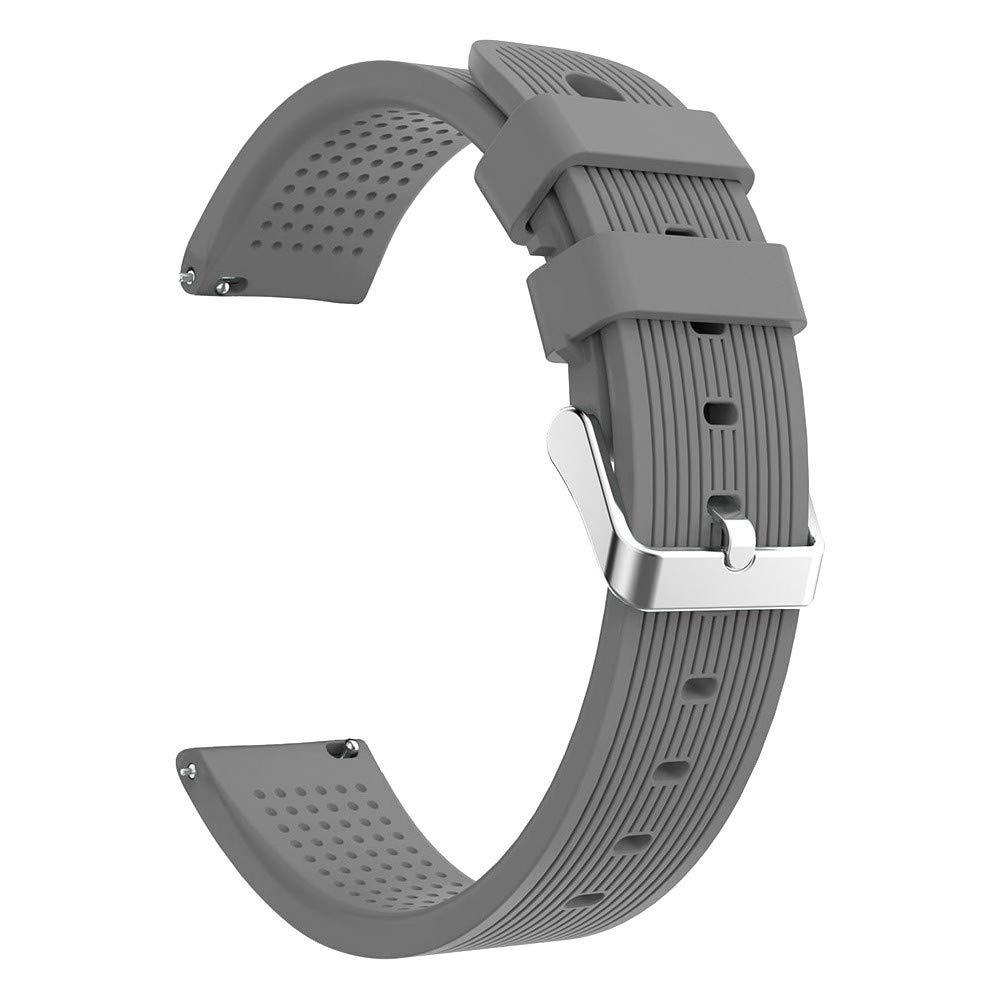 Lovewe Samsung Galaxy Watch Sport Soft Silicon Accessory,Watch Band Wirstband For Samsung Galaxy Watch 42mm (Gray)