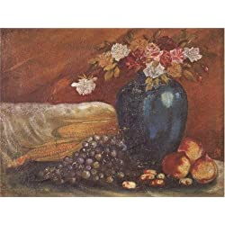 Oil Painting 'Art Reproduction Still Life With Flowers, Fruits And Corns' 18 x 24 inch / 46 x 61 cm , on High Definition HD canvas prints is for Gifts And Game Room, Hallway And Home Theater decor