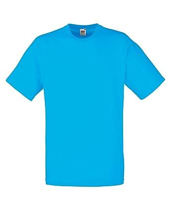0648128a121 Fruit Of The Loom Valueweight T-Shirt - Azure Blue - size M  Amazon.co.uk   Clothing