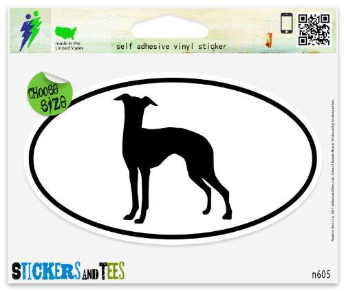 Italian Greyhound Dog Breed Shape Oval Car Sticker Indoor Outdoor 5