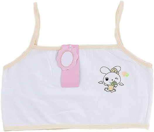 ZOOMY Sujetador de Entrenamiento de algodón para niñas Puberty Top de una Capa de Dibujos Animados Ropa Interior de Conejo Crop Top - Beige: Amazon.es: Hogar