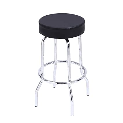 Pleasing Kktoner Swivel Round Bar Stool Pu Leather Shop Stool With Footrest Work Spa Medical Salon Counter Stools Task Chair Black Ibusinesslaw Wood Chair Design Ideas Ibusinesslaworg