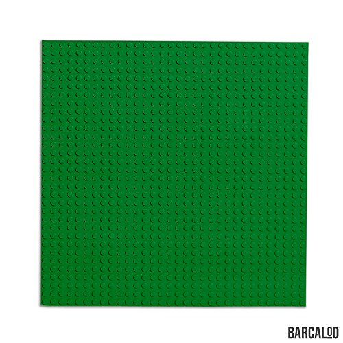 15 Inch x 15 Inch Baseplate for Building Bricks -Two Pack - Green Classic Baseplates Compatible with All Major Brands ()