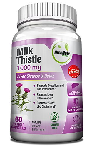 Cheap Milk Thistle Extract Liver Cleanser – 60 Veggie / Gluten Free Capsules / 80% Sylimarin – High Concentration Milk Thistle Supplement – Energy Boosting Liver Detoxifier and Weight Loss Aid