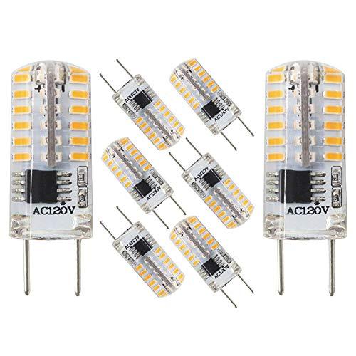 (G8 LED Bulb Dimmable Bi-Pin G8 Base Puck Light T4 JCD Type 3Watt Lighting Equivalent 20W-25W Halogen Bulbs,AC110-120V Warm White 2700K-3000K for Under Counter, Under Cabinet Lighting (8 Pack))