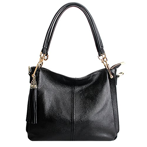 Bag Fashion Shoulder 1818 Design Body Handbag LF Cross Leather Dissa Black Elegant Women 6HWUZqnwP
