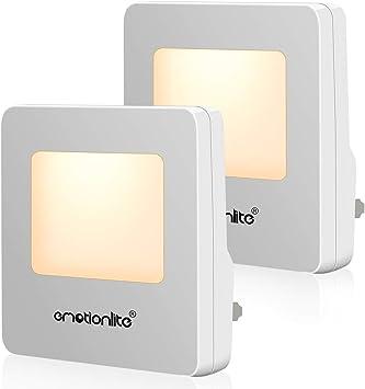 Plug In Led Night Light Dusk To Dawn Sensor Emotionlite Nightlights For Bedroom Hallway Kitchen Stairways Corridor Bathroom Warm White Ultra Slim 2 Pack Ul Listed Amazon Com