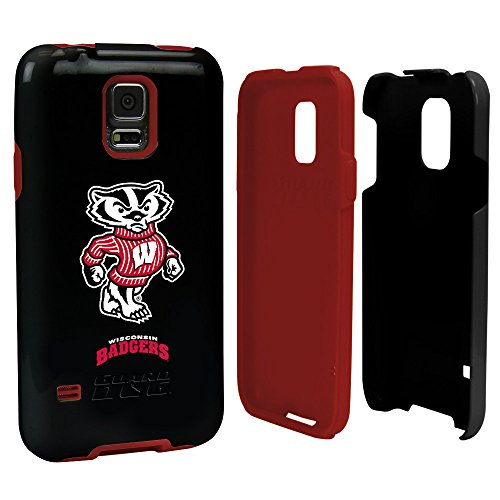 Wisconsin Badgers - Hybrid Case for Samsung Galaxy S5 - Black