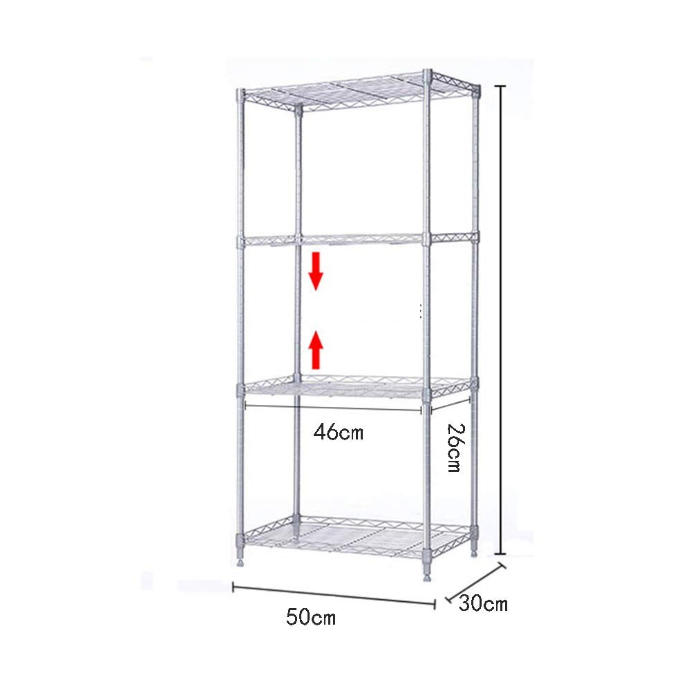 HUO Kitchen Floor Stainless Steel Shelf Adjustable Multi-Purpose Storage Rack (Size : 180C) by Kitchen shelf (Image #4)