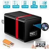 RZATU Hidden Camera WiFi HD 1080P Motion Detection USB Wall Charger Camera Mini Home Security Nanny Camera Spy Camera Wireless Smart Snap Cam (2018 New Version)