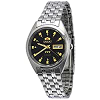 Orient #FAB00009B Men's 3 Star Stainless Steel Black Dial Self Wind Automatic Watch