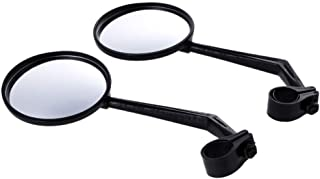 Tempshop 1 Pair Cycling Riding Bicycle Bike Reflector Mirror 360 Rotation Rearview Mirror