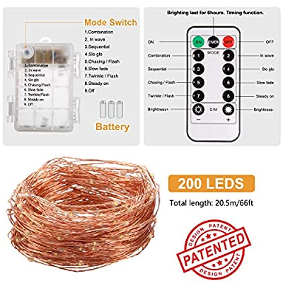 ALOVECO Led String Lights Battery Powered