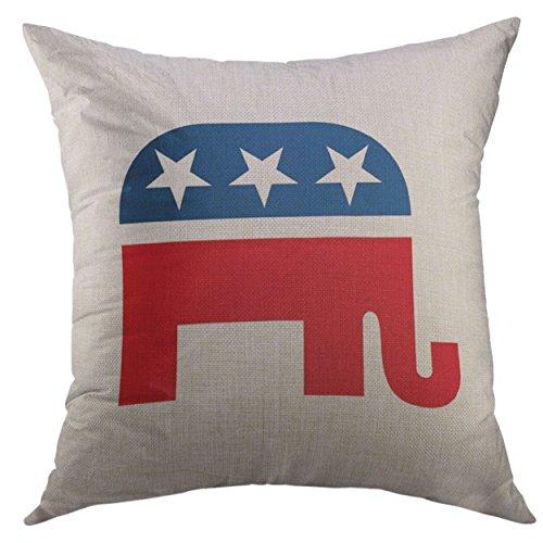 Mugod Pillow Cases Ron Republican Paul Mitt Romney President Tea Throw Pillow Cover for Men Women Boys Cushion Cover 20x20 ()