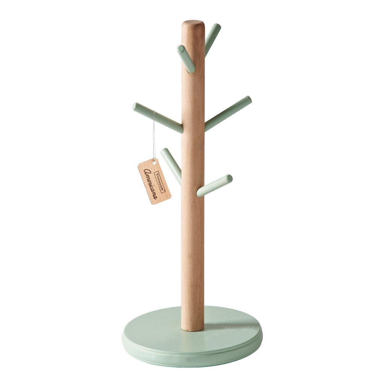 Typhoon vintage americana Kitchen mug Tree Holder, legno, bianco, 13.6x 13.6x 31.5cm 1400.843