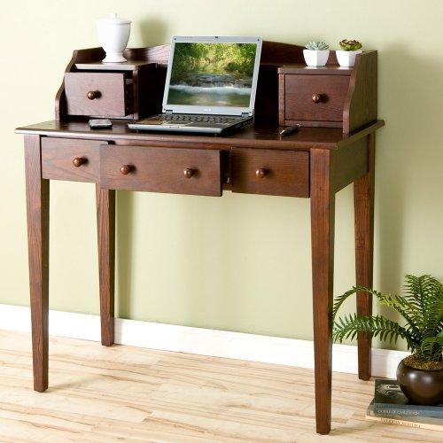 SEI Satin Espresso Computer Desk