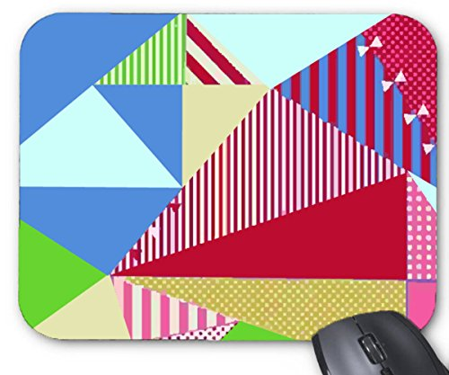Mouse Mat Triangle Geometric Creative Mouse Pad 11.8X9.8 Inxh