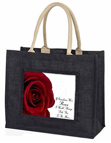 Advanta Wenn Oma s wurden Roses Große Einkaufstasche/Weihnachtsgeschenk, Jute, schwarz, 42x 34,5x 2cm
