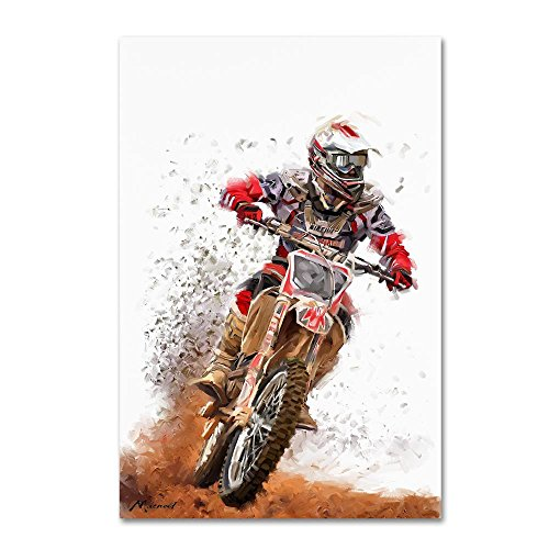 Motocross by The Macneil Studio, 12x19-Inch Canvas Wall Art