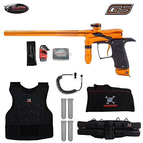 (MAddog Dangerous Power G5 Sergeant Paintball Gun Package - Orange/Black)