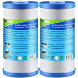 Icepure 5 Micron 10' x 4.5' Whole House Big Blue Sediment and Activated Carbon Water Filter Replacement Cartridge Compatible with GE FXHTC, GXWH40L, GXWH35F, GNWH38S, 2-Pack