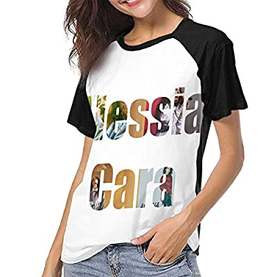Womens T-Shirts A-lessia Cara 3D Pattern O-Neck Short Sleeve Girl's Shirts Casual Workout Training Tees