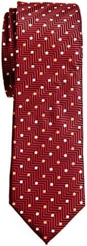Retreez Zig Zag Striped Textured with Polka Dots Woven Microfiber 2