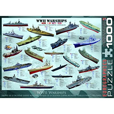 EuroGraphics WWII War Ships 1000 Piece Puzzle: Toys & Games